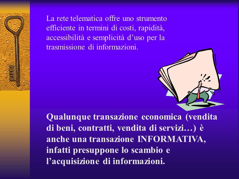 Finanza on line New Economy – Net Economy - trading on line - net stocks - e-commerce - internet banking… Perché gli sviluppi della telematica hanno a