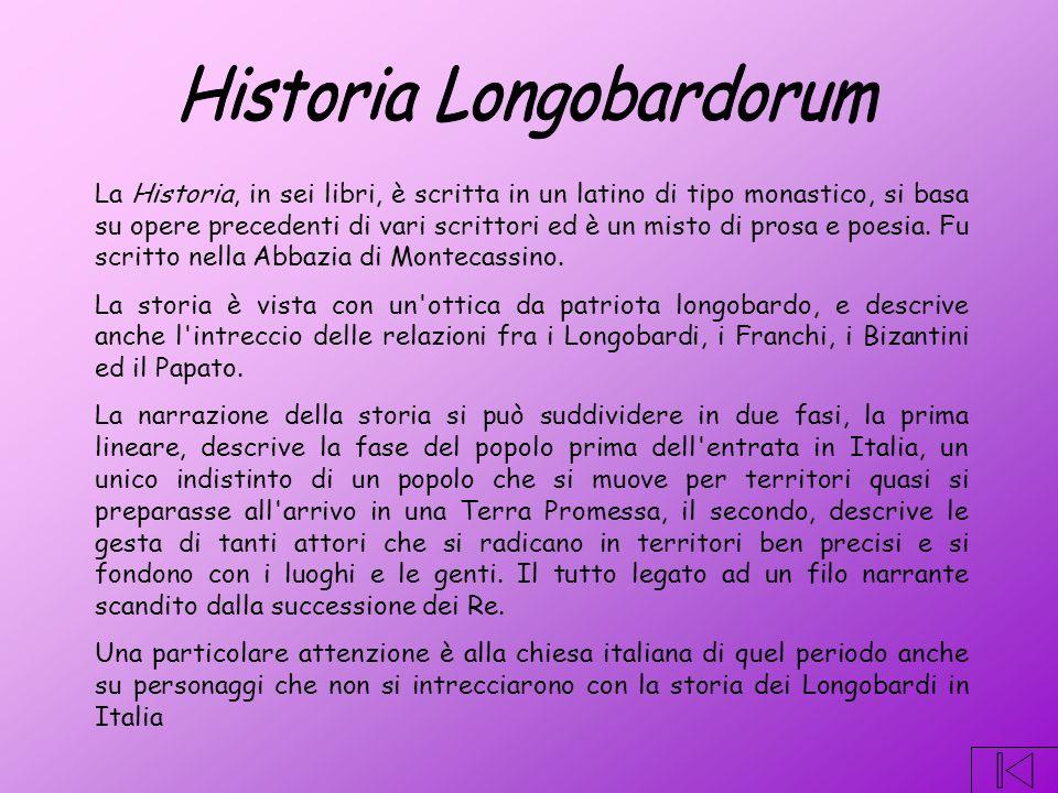 La Historia, in sei libri, è scritta in un latino di tipo monastico, si basa su opere precedenti di vari scrittori ed è un misto di prosa e poesia.