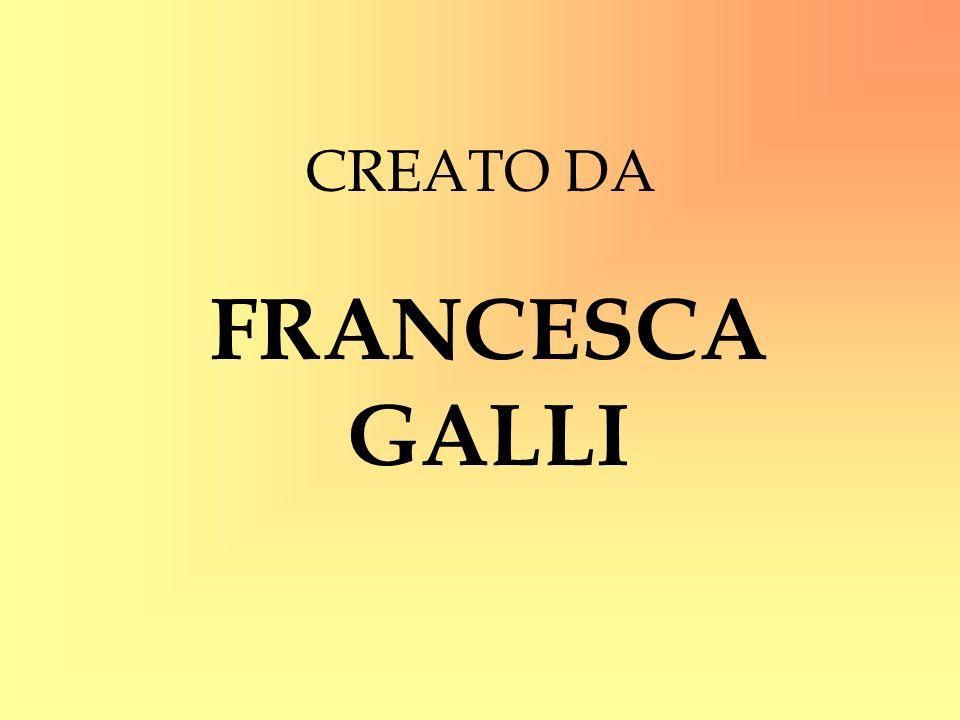 CREATO DA FRANCESCA GALLI