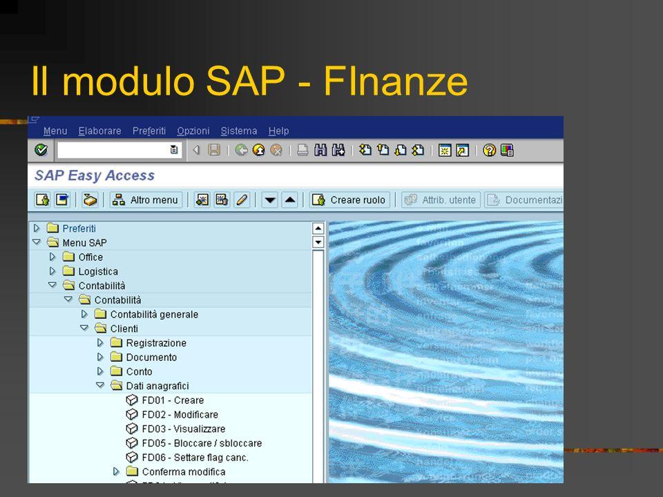 Il modulo SAP - FInanze