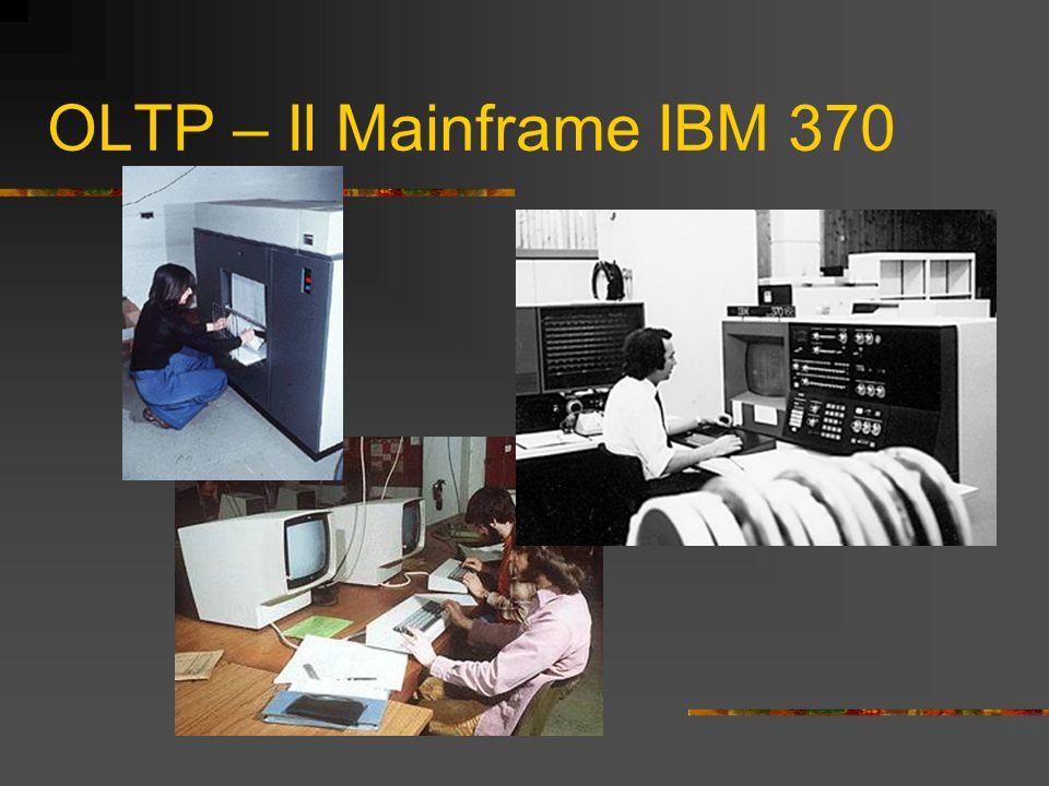 OLTP e Personal Computers L OLTP è in uso ancora oggi Nel 1982 con lIBM PC1 si diffonde il Personal Computer Nel 1985 con lIBM PC/AT si diffondono le reti di Personal Computer