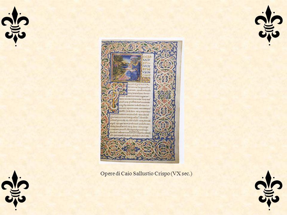 Opere di Caio Sallustio Crispo (VX sec.)