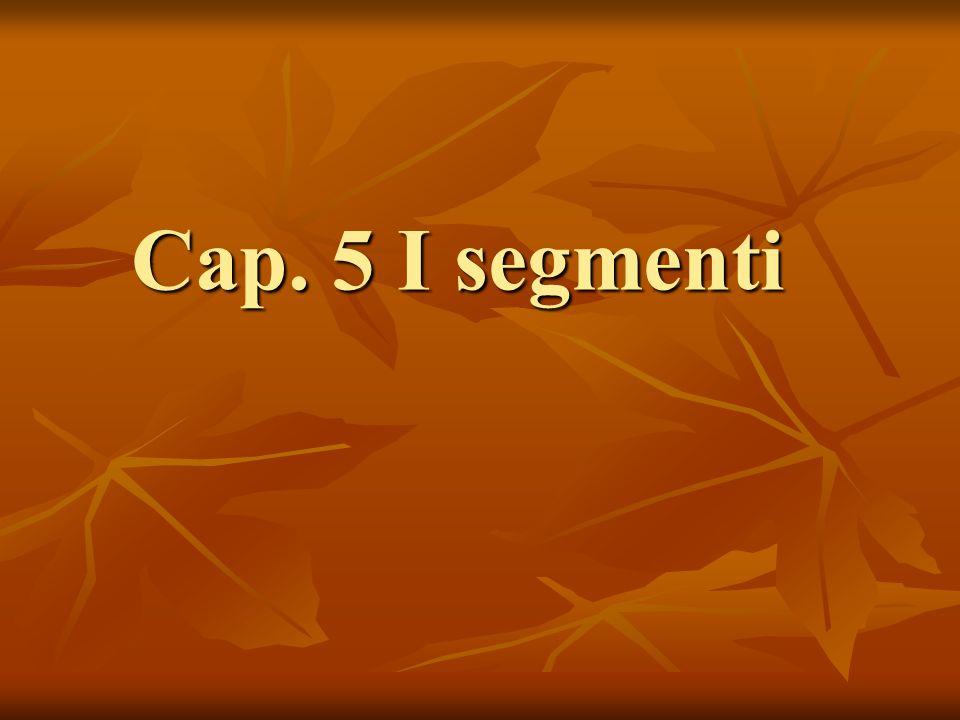 Cap. 5 I segmenti