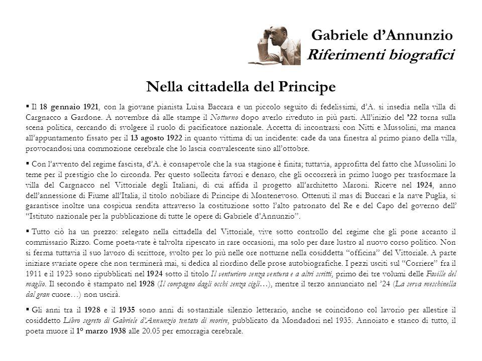 Gabriele dAnnunzio Donne e Muse 56 anni di amori /1 Giselda (Elda) Zucconi (LALLA) è il primo amore vero di dA.