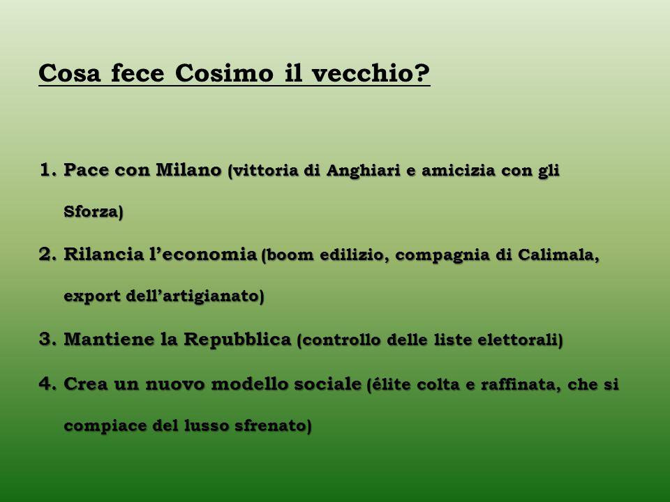 Cosa fece Cosimo il vecchio.