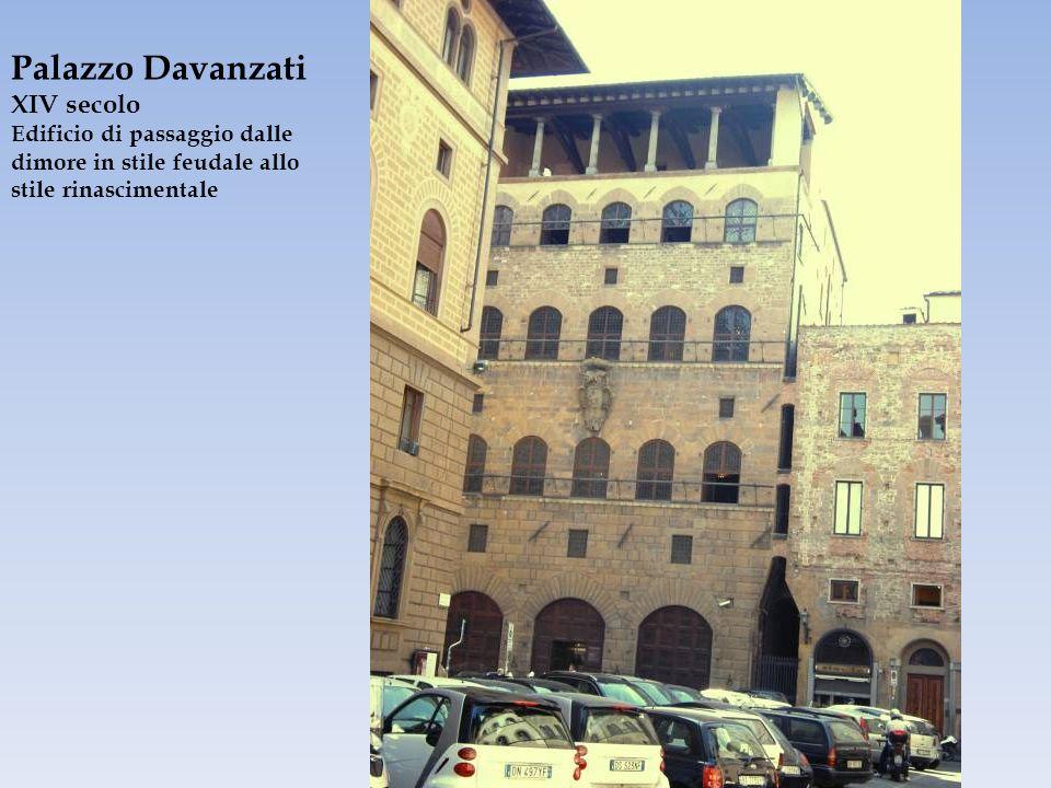Palazzo Davanzati XIV secolo Edificio di passaggio dalle dimore in stile feudale allo stile rinascimentale