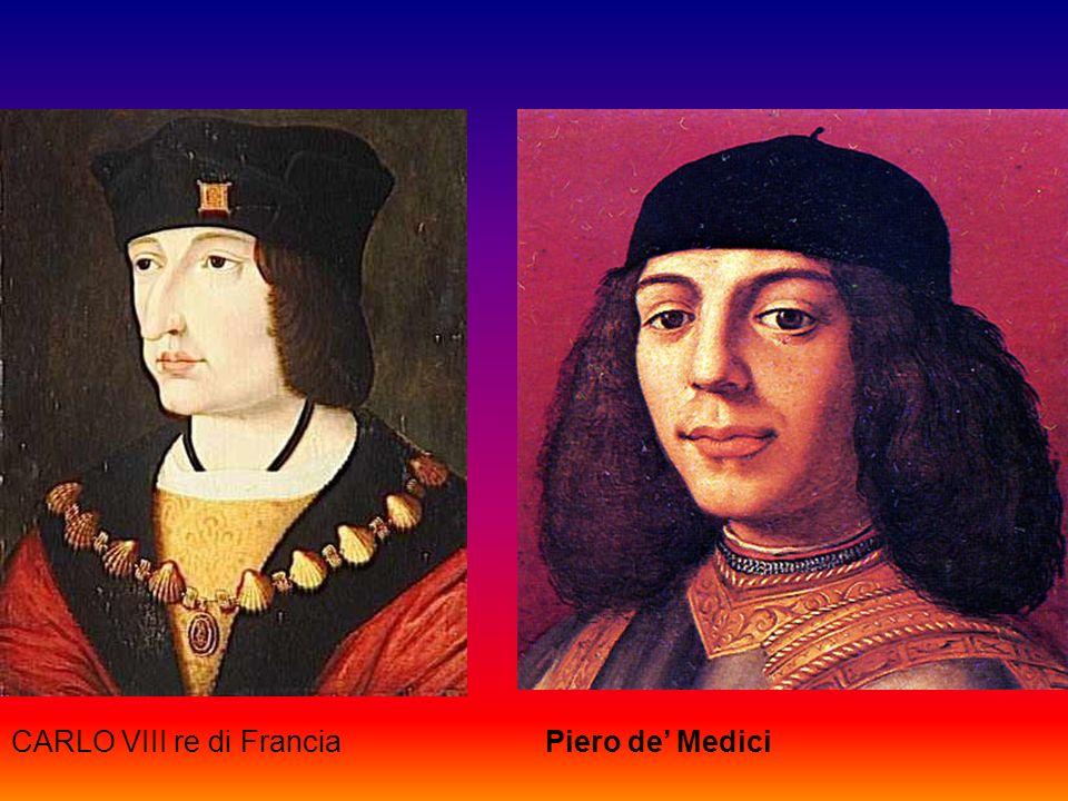 CARLO VIII re di FranciaPiero de Medici