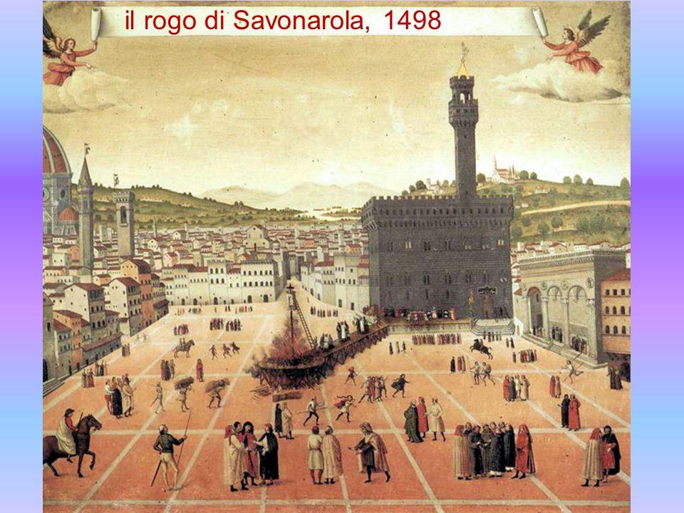 il rogo di Savonarola, 1498