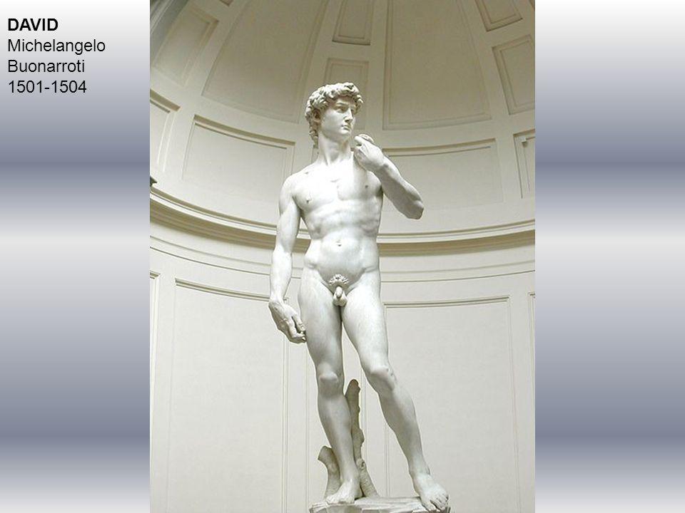 DAVID Michelangelo Buonarroti 1501-1504