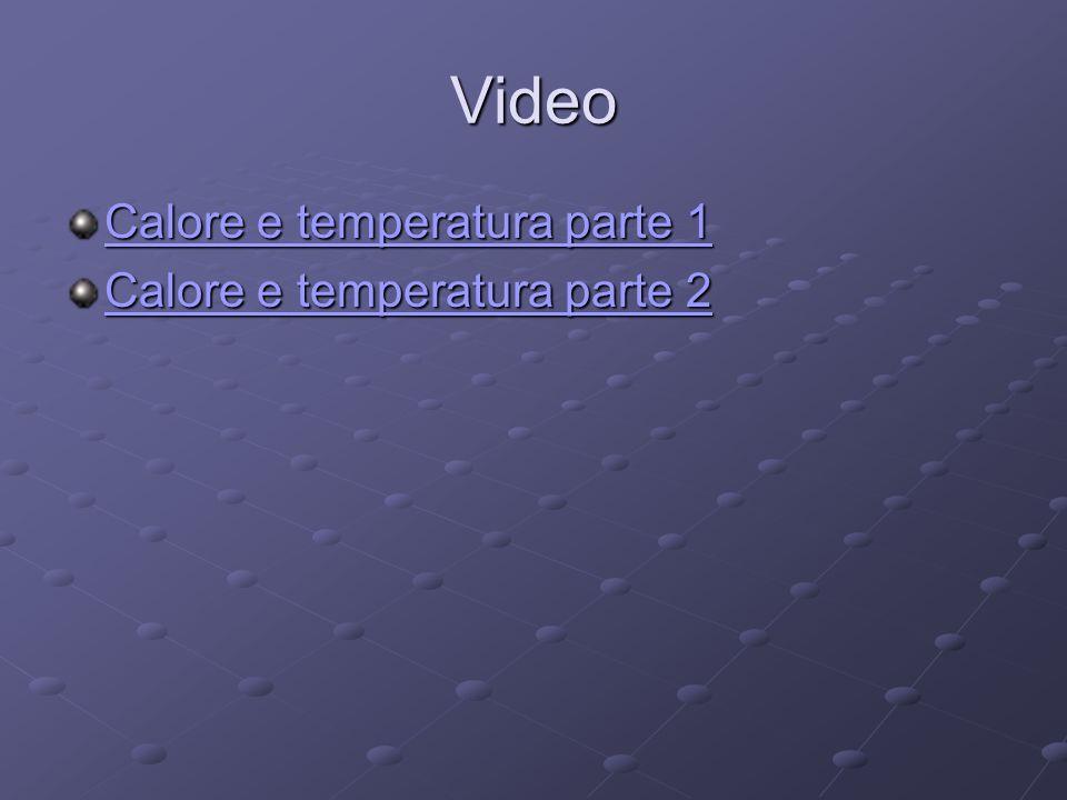 Video Calore e temperatura parte 1 Calore e temperatura parte 1 Calore e temperatura parte 2 Calore e temperatura parte 2