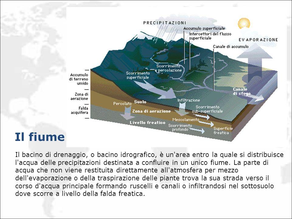 Il bacino di drenaggio, o bacino idrografico, è un'area entro la quale si distribuisce l'acqua delle precipitazioni destinata a confluire in un unico