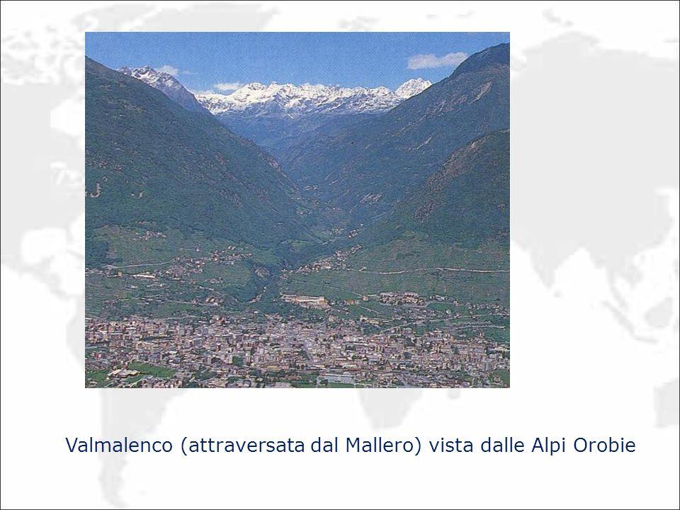 Valmalenco (attraversata dal Mallero) vista dalle Alpi Orobie