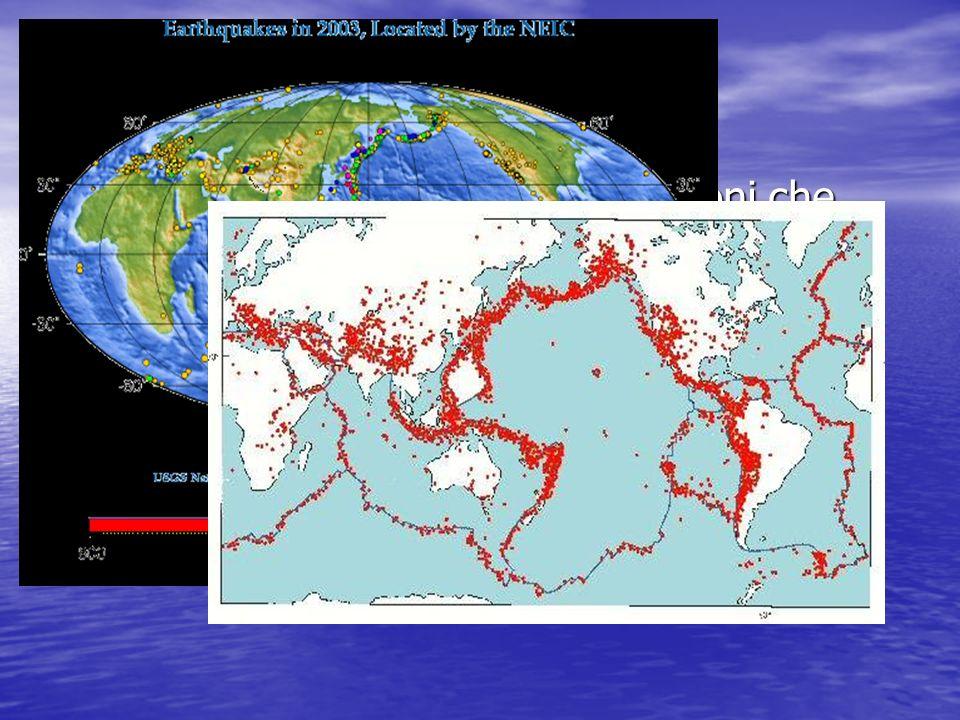 La distribuzione Una delle più importanti spiegazioni che questa teoria riesce a fornire è la distribuzione dei terremoti e dei vulcani sulla Terra Le
