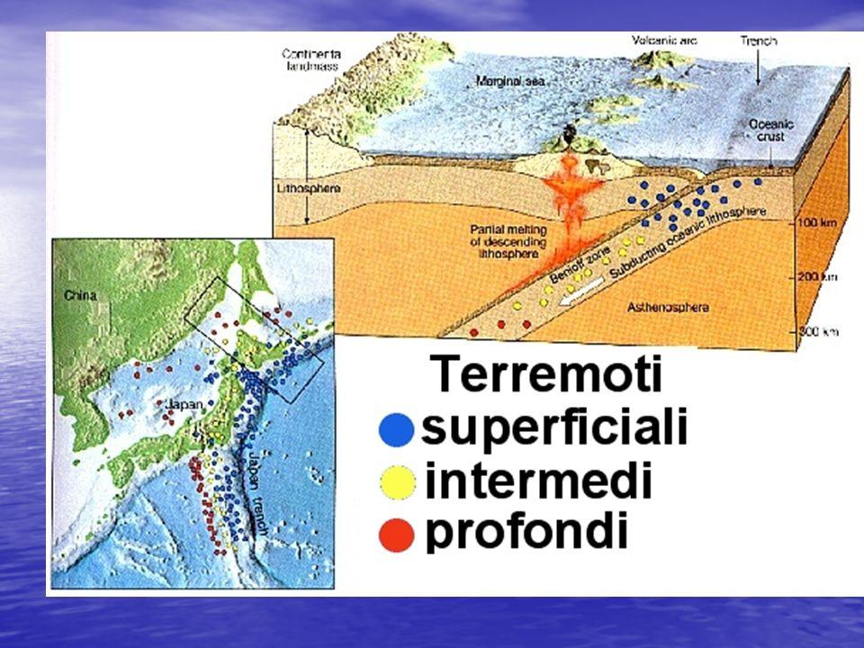 La profondità dei terremoti La profondità dei terremoti è veriabile e legata alla geodinamica locale La profondità dei terremoti è veriabile e legata