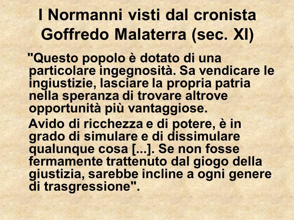 I Normanni visti dal cronista Goffredo Malaterra (sec. XI)