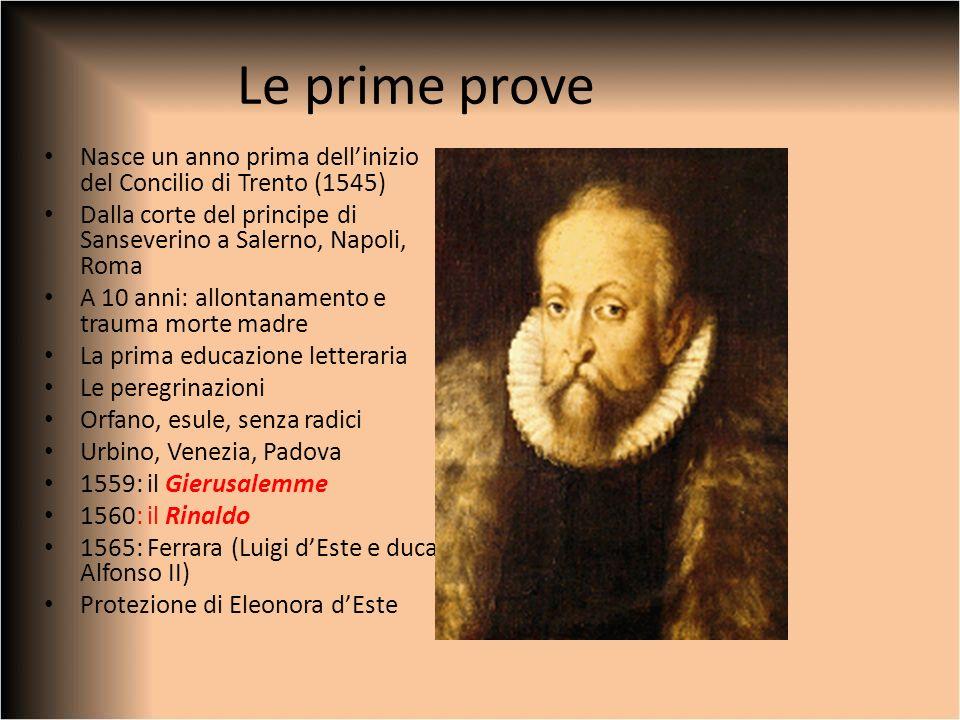 Le prime prove Nasce un anno prima dellinizio del Concilio di Trento (1545) Dalla corte del principe di Sanseverino a Salerno, Napoli, Roma A 10 anni: