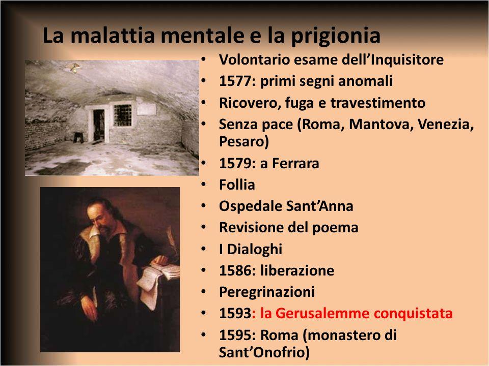 La malattia mentale e la prigionia Volontario esame dellInquisitore 1577: primi segni anomali Ricovero, fuga e travestimento Senza pace (Roma, Mantova