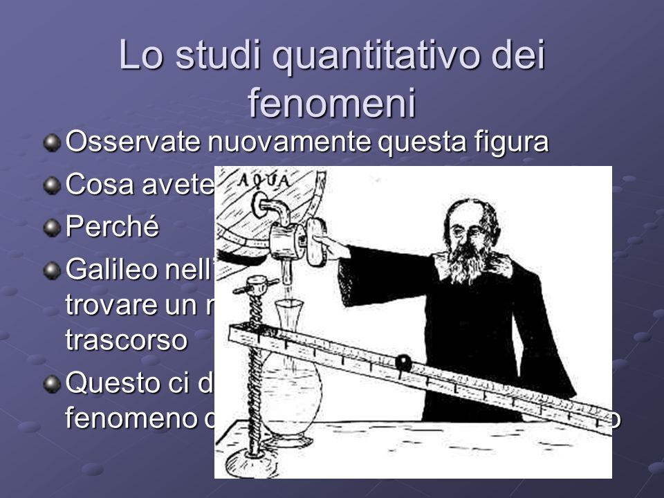 Lo studi quantitativo dei fenomeni Osservate nuovamente questa figura Cosa avete notato.