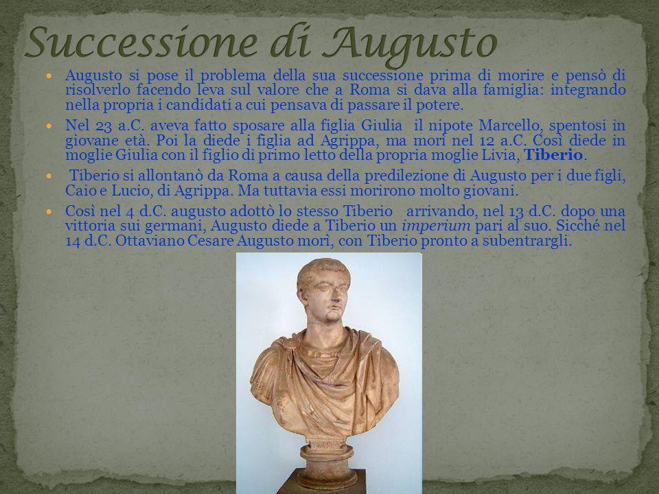 Augusto si pose il problema della sua successione prima di morire e pensò di risolverlo facendo leva sul valore che a Roma si dava alla famiglia: inte