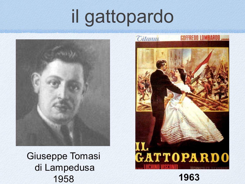 il gattopardo Giuseppe Tomasi di Lampedusa 1958 1963