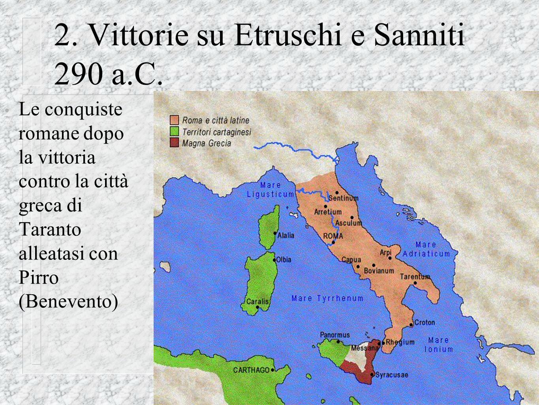 @ Migliardi 2007 2. Vittorie su Etruschi e Sanniti 290 a.C. Le conquiste romane dopo la vittoria contro la città greca di Taranto alleatasi con Pirro