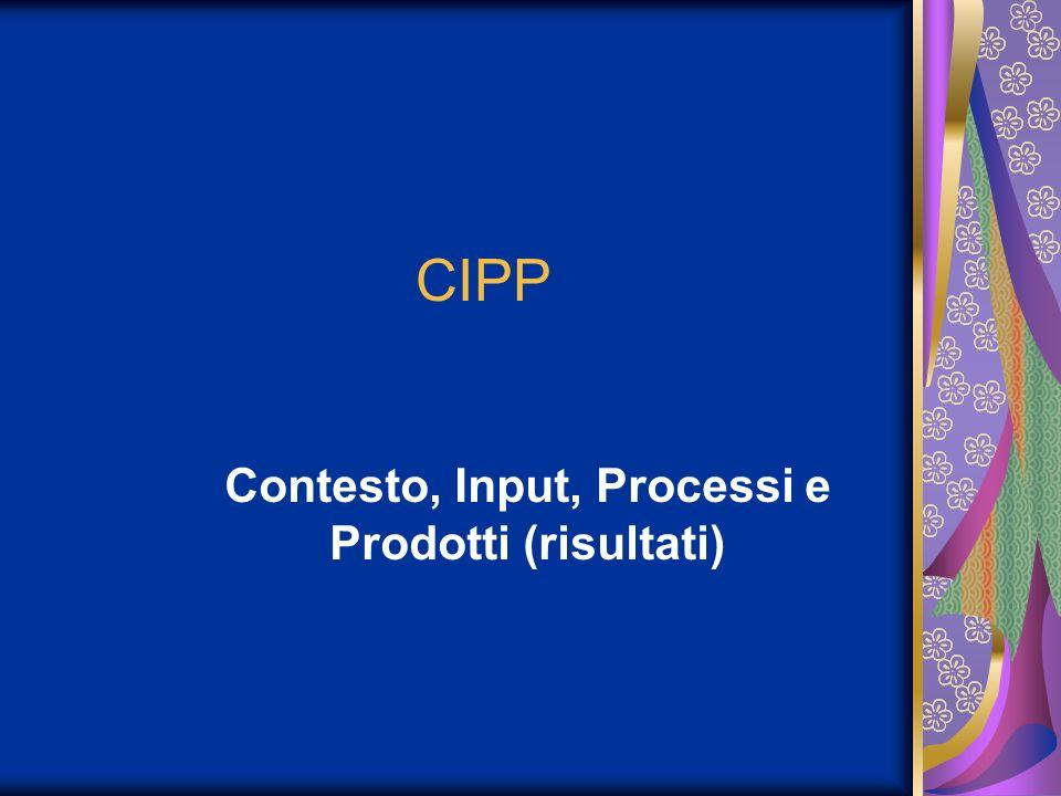 CIPP Contesto, Input, Processi e Prodotti (risultati)