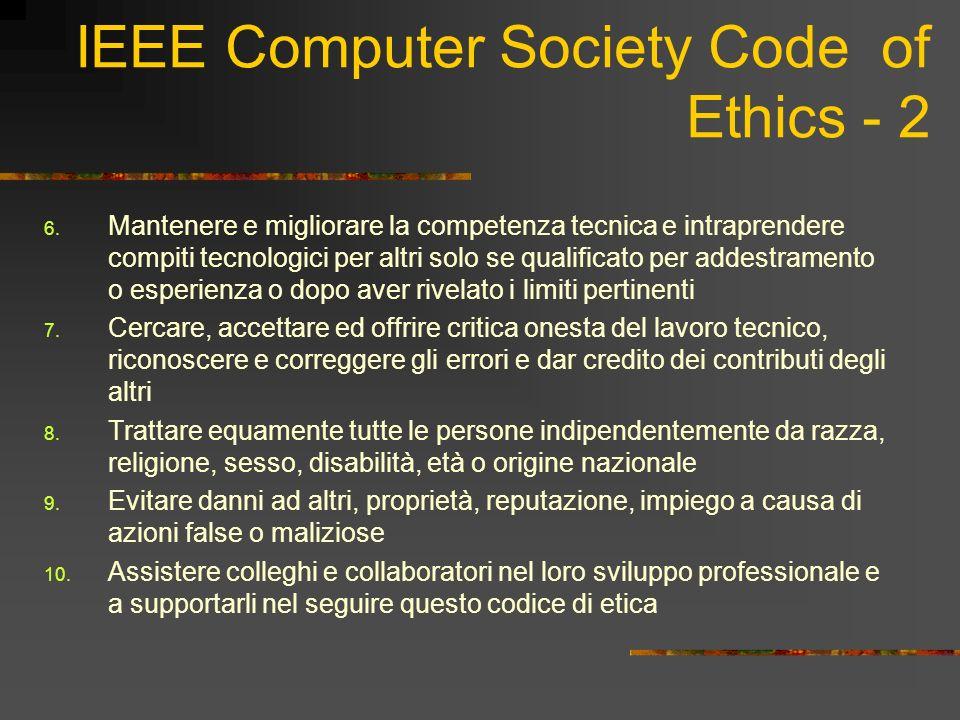 IEEE Computer Society Code of Ethics - 2 6.