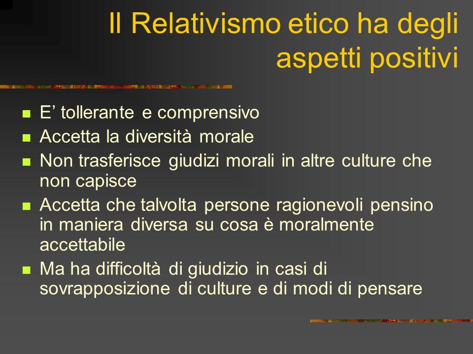 Tre domande sul relativismo etico La Moralità è relativa.