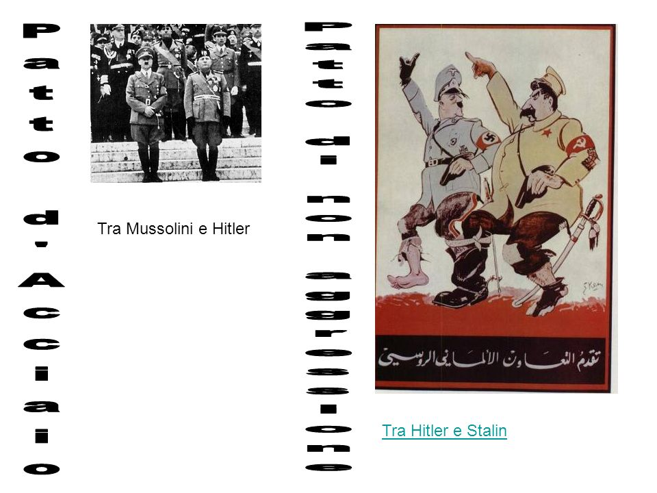 Tra Mussolini e Hitler Tra Hitler e Stalin