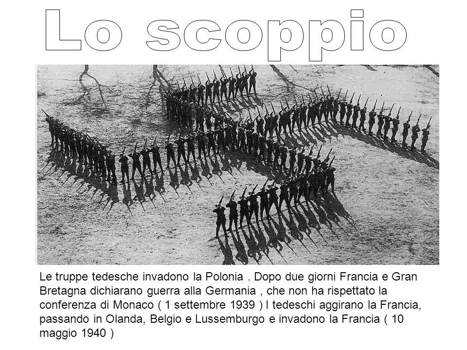 Le truppe tedesche invadono la Polonia. Dopo due giorni Francia e Gran Bretagna dichiarano guerra alla Germania, che non ha rispettato la conferenza d