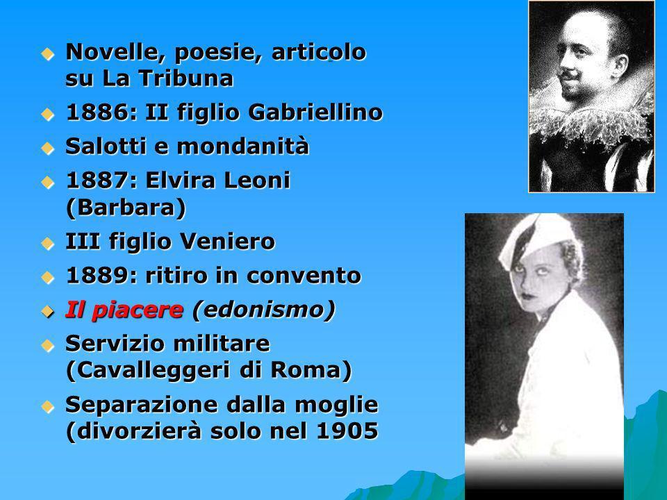 5 Novelle, poesie, articolo su La Tribuna Novelle, poesie, articolo su La Tribuna 1886: II figlio Gabriellino 1886: II figlio Gabriellino Salotti e mo