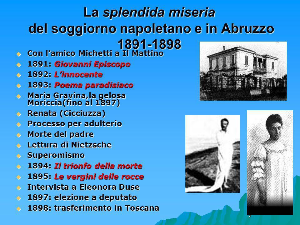 7 La splendida miseria del soggiorno napoletano e in Abruzzo 1891-1898 Con lamico Michetti a Il Mattino Con lamico Michetti a Il Mattino 1891: Giovann