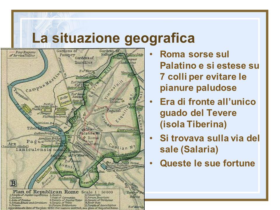 Da villaggio a città Per oltre un secolo Roma rimase un agglomerato di tribù divise sui 7 colli Dal 650 in poi cominciò a essere più fiorente il mercato, specie bovino (Foro boario) Il Foro divenne luogo di scambi e di assemblee Intorno ad esso crebbe e si ingrandì la città