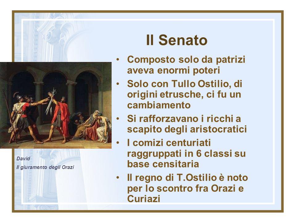 I 7 re Romolo (753 a.C.- 716 a.C.) ratto delle Sabine Numa Pompilio (715 a.C.