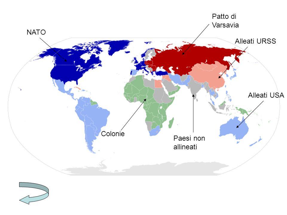 NATO Patto di Varsavia Colonie Alleati USA Alleati URSS Paesi non allineati
