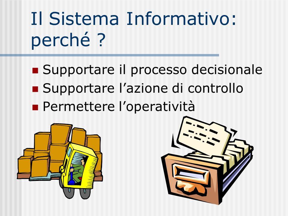 Il Sistema Informativo: perché .