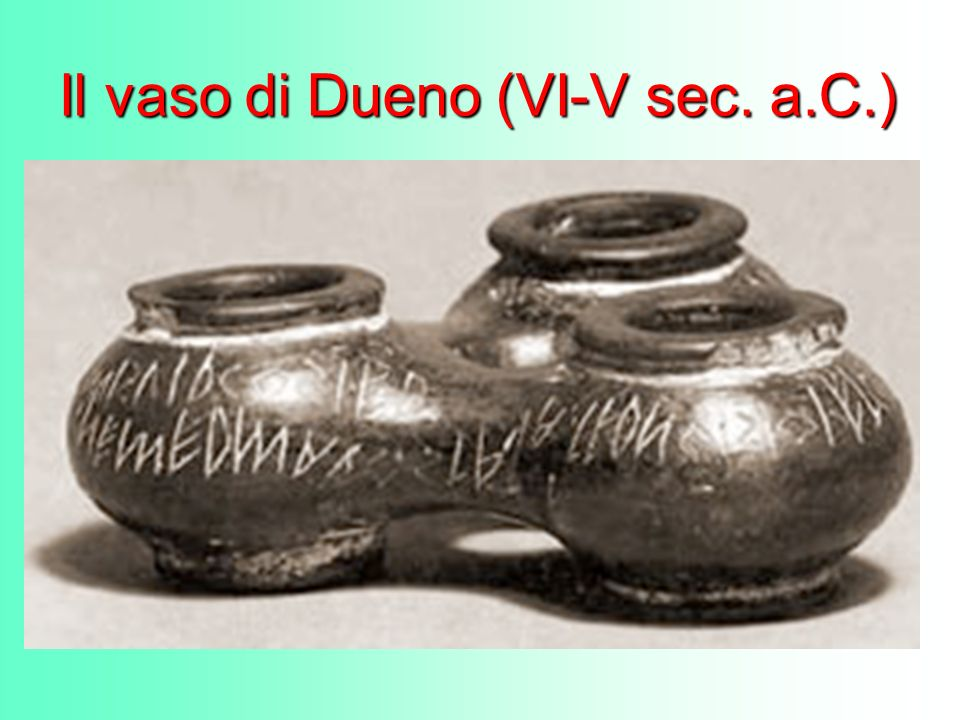 Il vaso di Dueno (VI-V sec. a.C.)