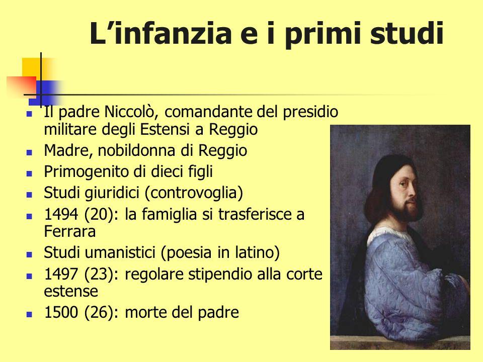 LUDOVICO ARIOSTO Reggio Emilia 1474 Ferrara 1533