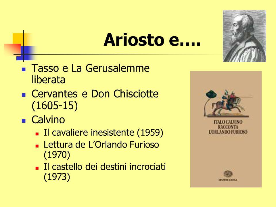 La dissoluzione di un modello Il Morgante LOrlando Furioso Don Chisciotte Il cavaliere inesistente
