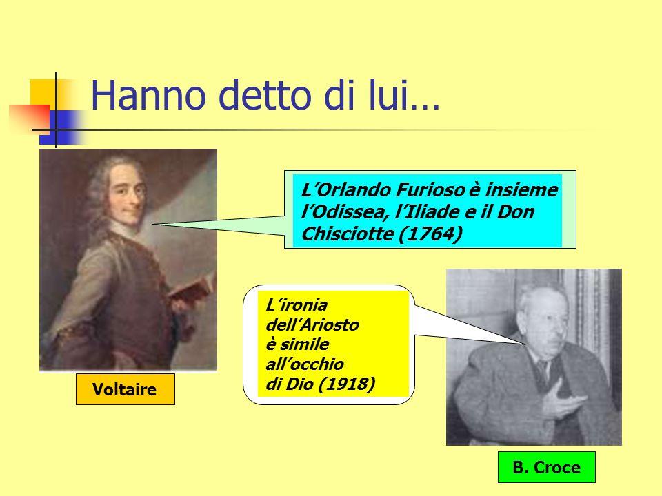 Ariosto e…. Tasso e La Gerusalemme liberata Cervantes e Don Chisciotte (1605-15) Calvino Il cavaliere inesistente (1959) Lettura de LOrlando Furioso (