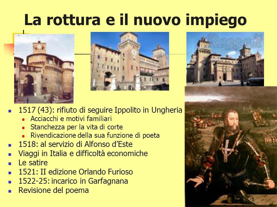 I viaggi e la scrittura (1507-1517) A Mantova da Isabella dEste Inizia Orlando Furioso A Roma da Giulio II Le commedie: la Cassaria e i Suppositi (Pla