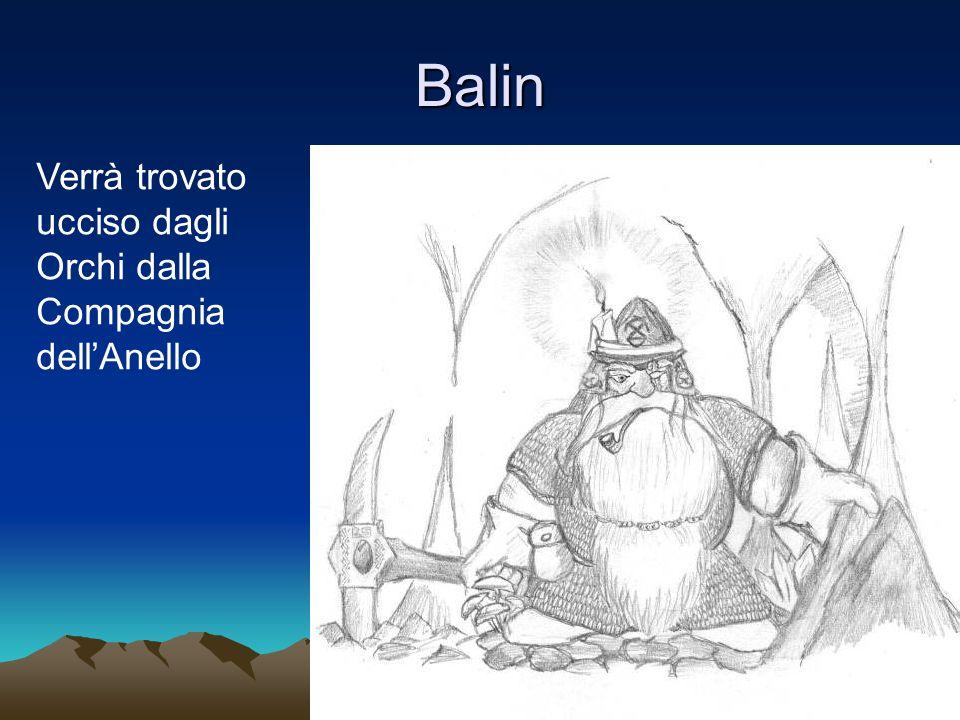 Balin Verrà trovato ucciso dagli Orchi dalla Compagnia dellAnello
