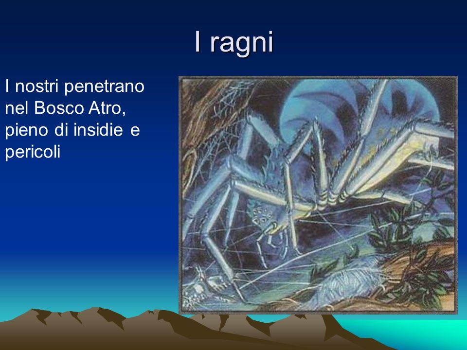 I ragni I nostri penetrano nel Bosco Atro, pieno di insidie e pericoli