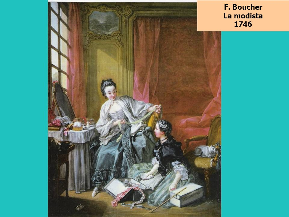 F. Boucher La modista 1746