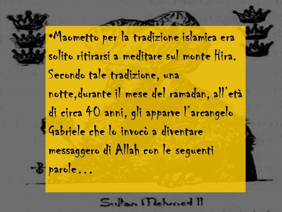 Gioventù di Maometto Maometto nasce alla Mecca nel 571. Il padre Abd Allah muore poche settimane prima della sua nascita. A sei anni perse anche la ma