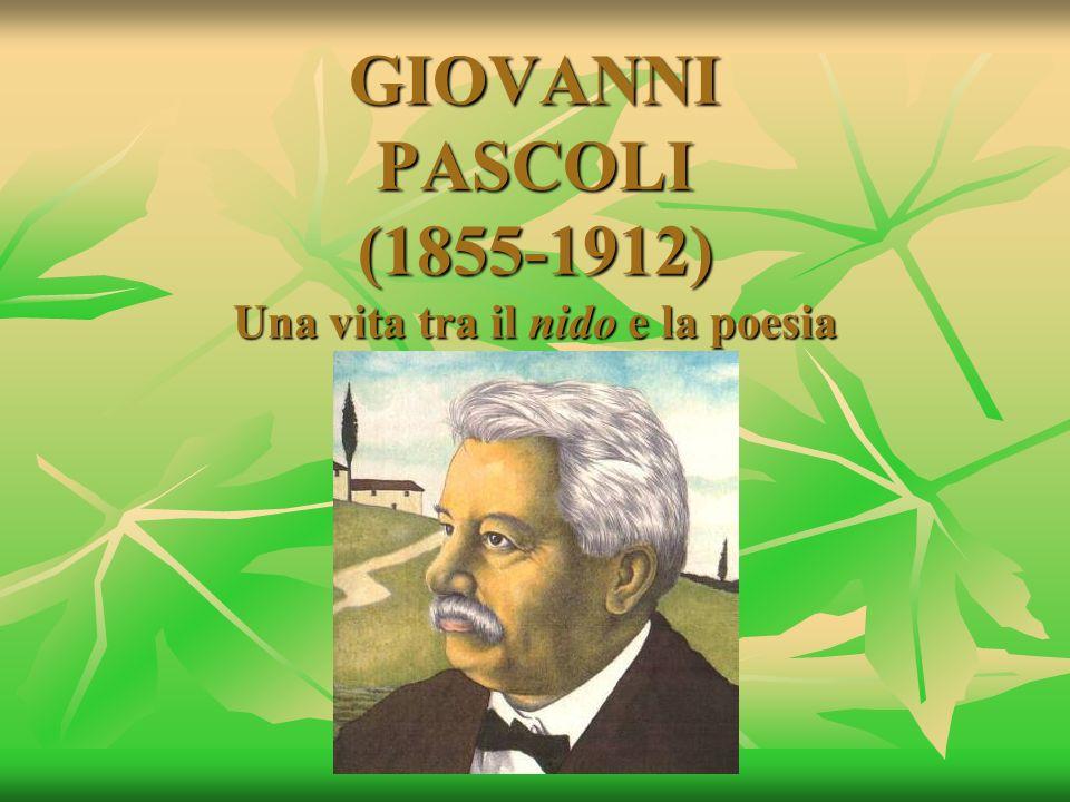 GIOVANNI PASCOLI (1855-1912) Una vita tra il nido e la poesia