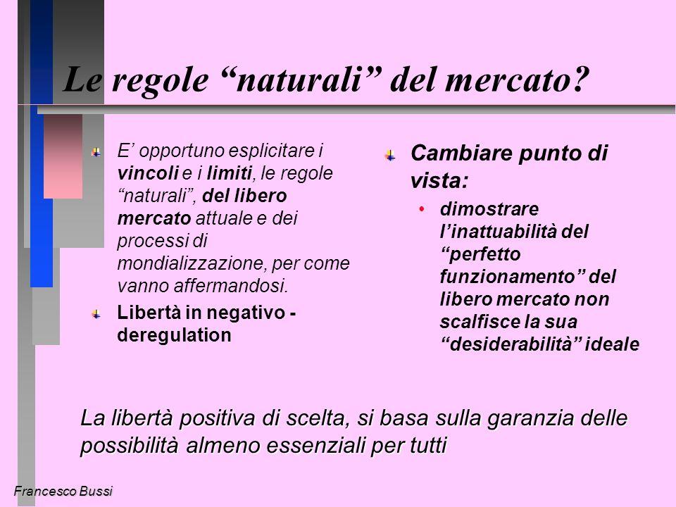 Francesco Bussi Le regole naturali del mercato.