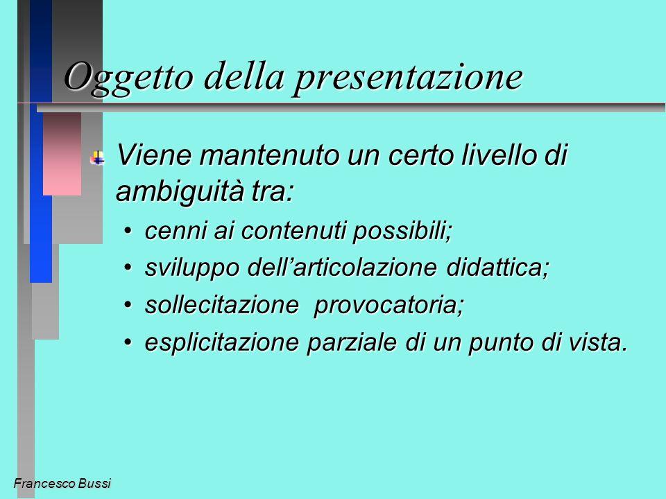 Francesco Bussi Introduzione: Esistono criteri universali di valore.