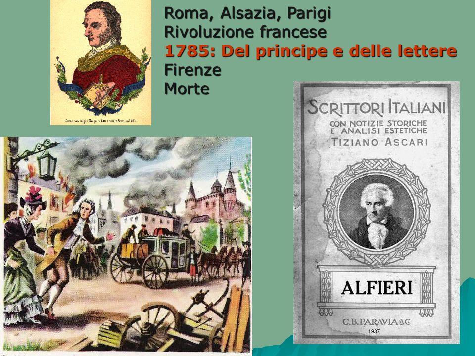 Roma, Alsazia, Parigi Rivoluzione francese 1785: Del principe e delle lettere FirenzeMorte
