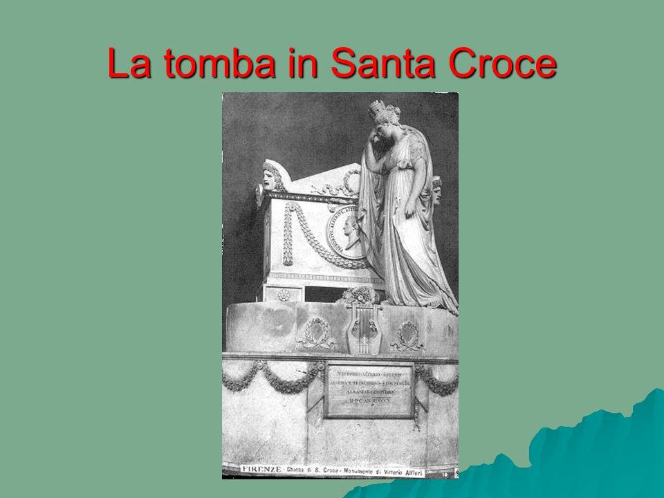 La tomba in Santa Croce
